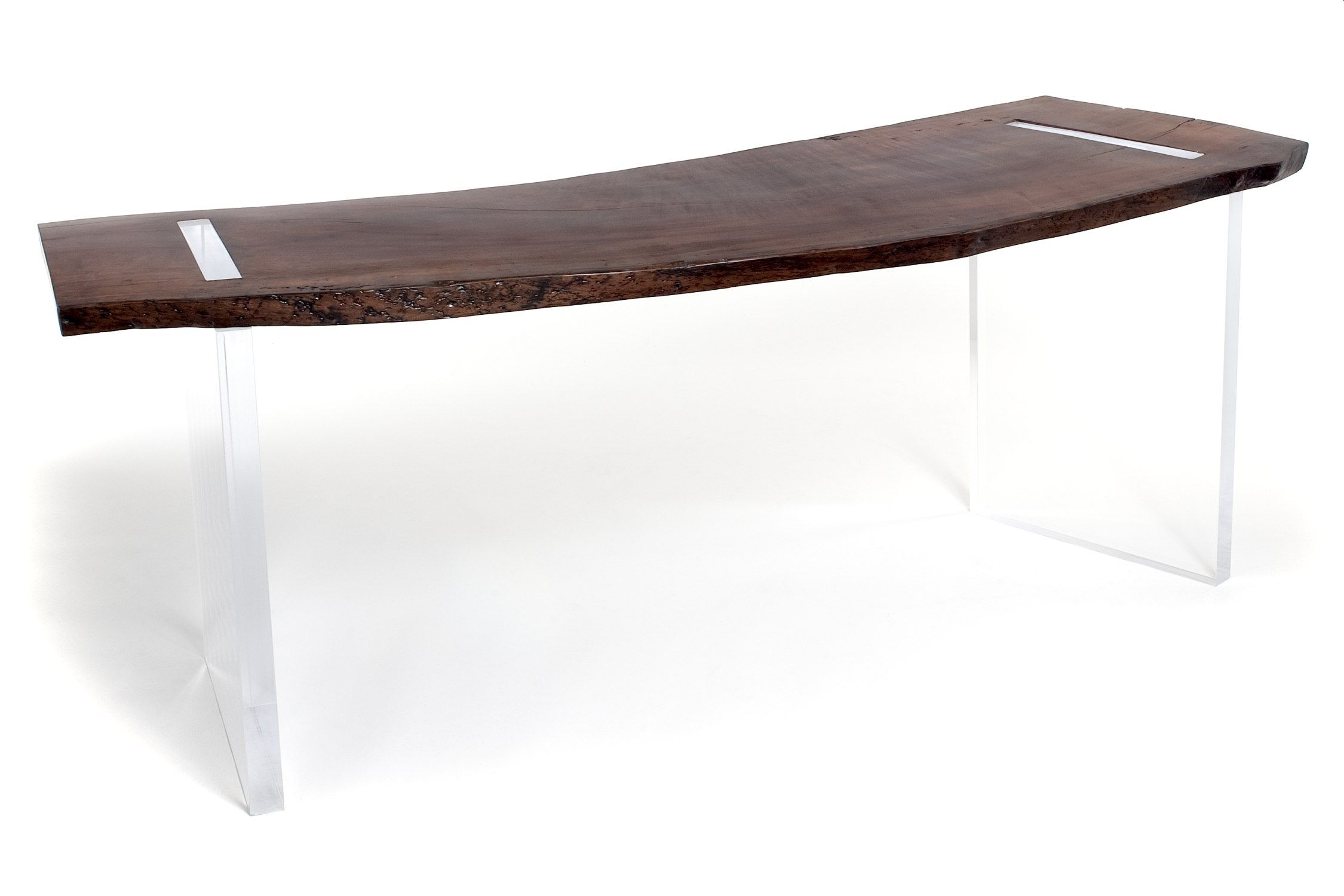 Wooden Desk Contemporary Commercial Reclaimed Wood Floating