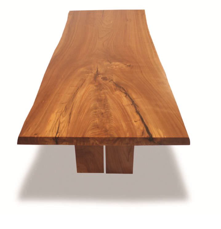 ... Contemporary Table / Wooden / Rectangular / In Reclaimed Material LIVE  EDGE ELM Rotsen Furniture ...