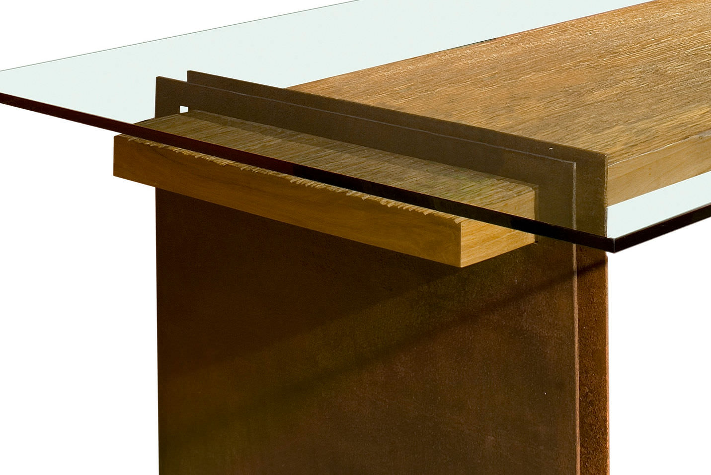 ... Contemporary Table / Wooden / Rectangular / In Reclaimed Material