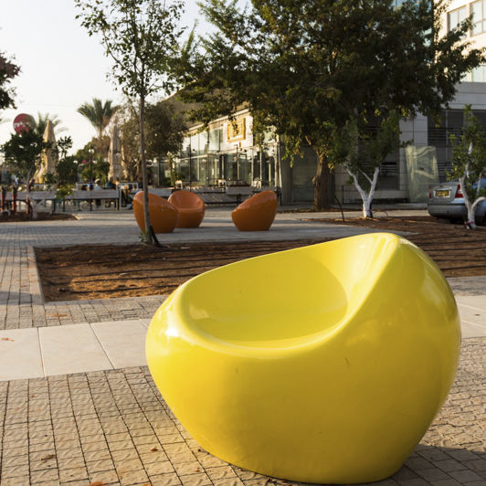 Concrete Urban Armchair / Polyurethane Coated   HAPPY By Matouš Holý