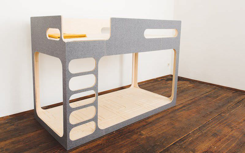 Bunk Bed Single Contemporary Child S Unisex Amber In The Sky