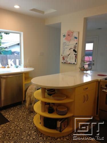 kitchen tile / floor / cement / victorian pattern - cluny-688