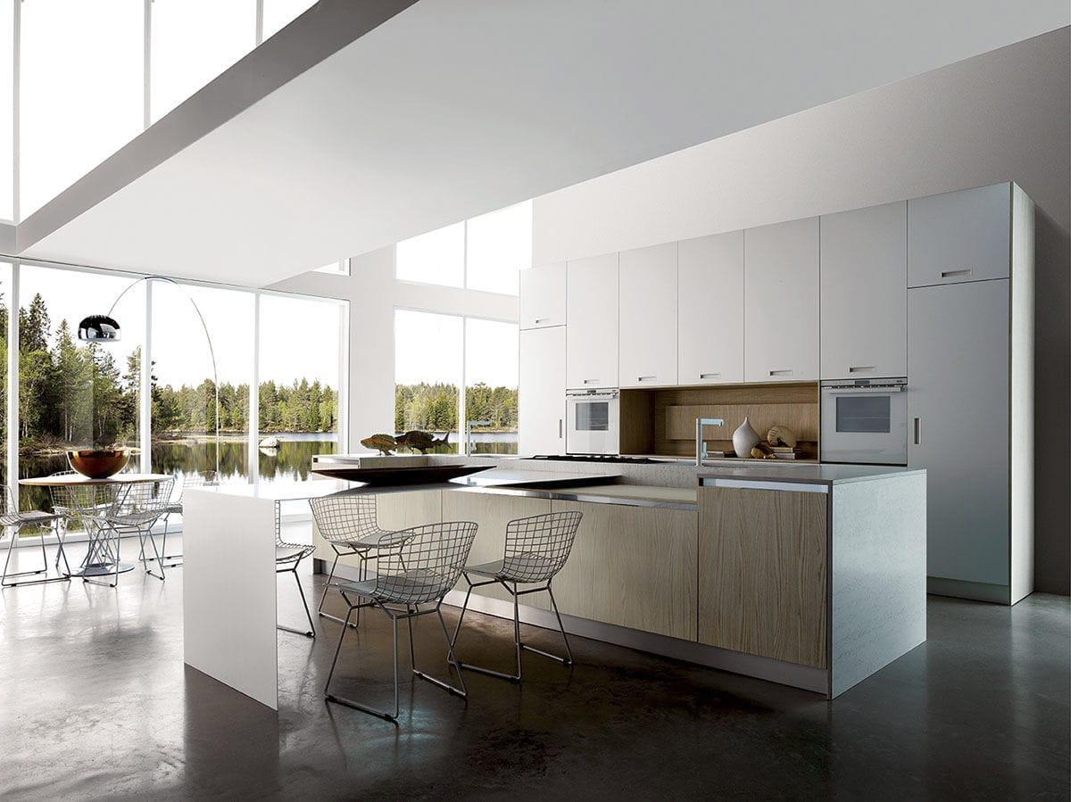 Contemporary kitchen / laminate / wooden / island - H 72 [75]: MT ...