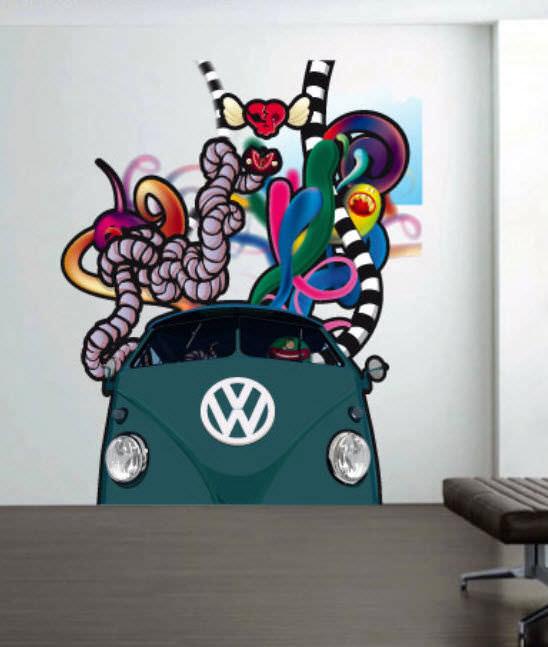 graffiti wall sticker - paopaolaccio - stikka