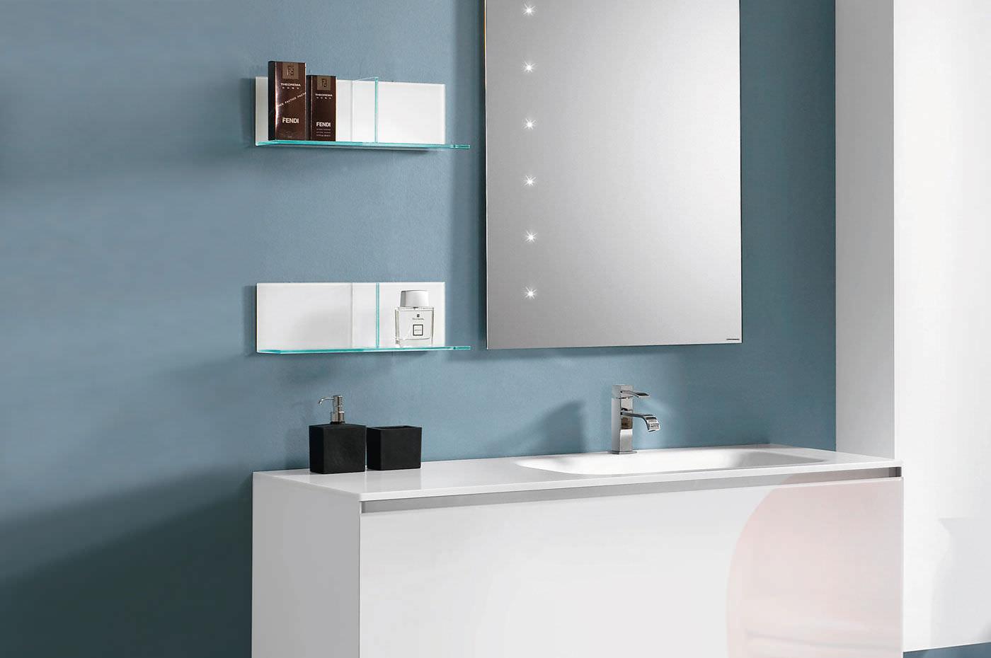 Modular shelf / wall-mounted / contemporary / glass - DOMINO - ARTELINEA