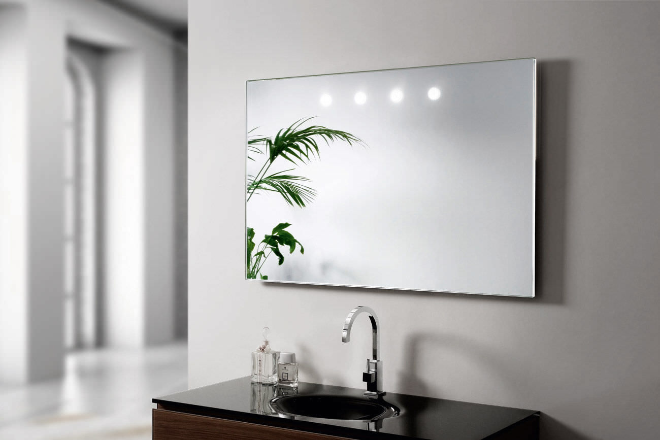 Wall Mounted Mirror wall-mounted mirror / contemporary / rectangular / round - argento