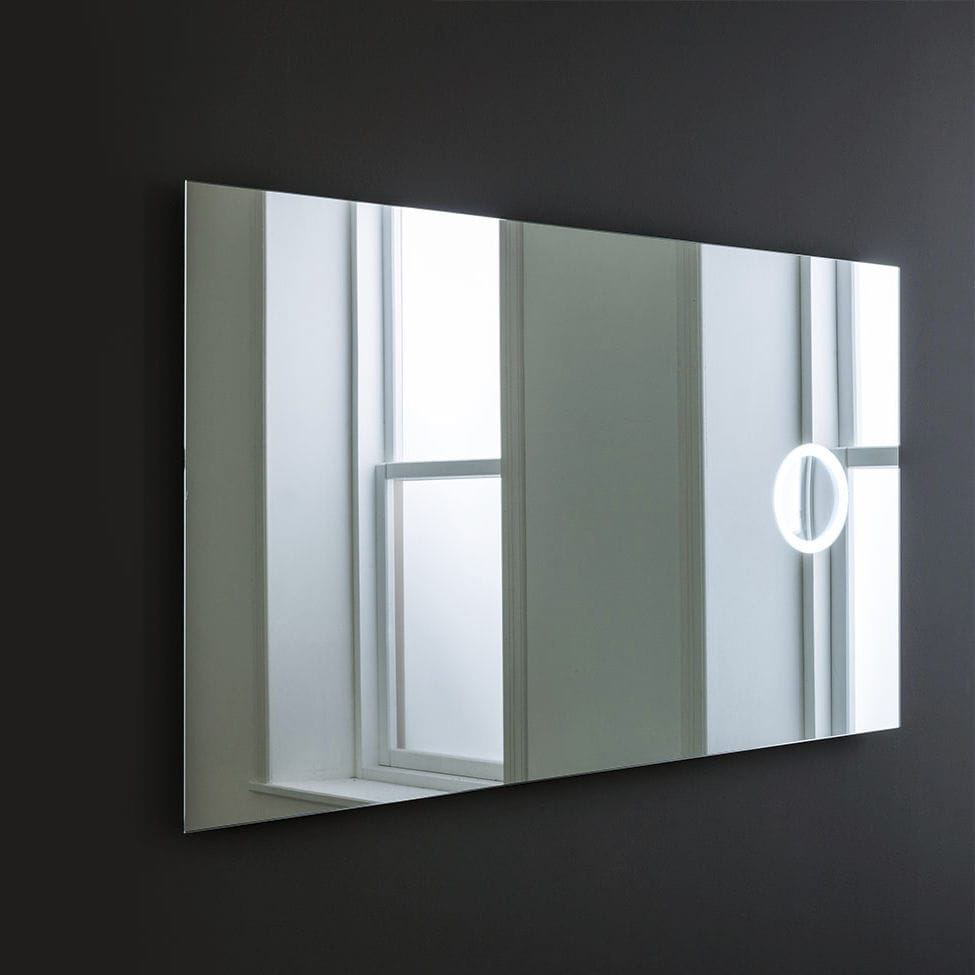 Wall Mounted Bathroom Mirror Led Illuminated Magnifying Contemporary OblÒ