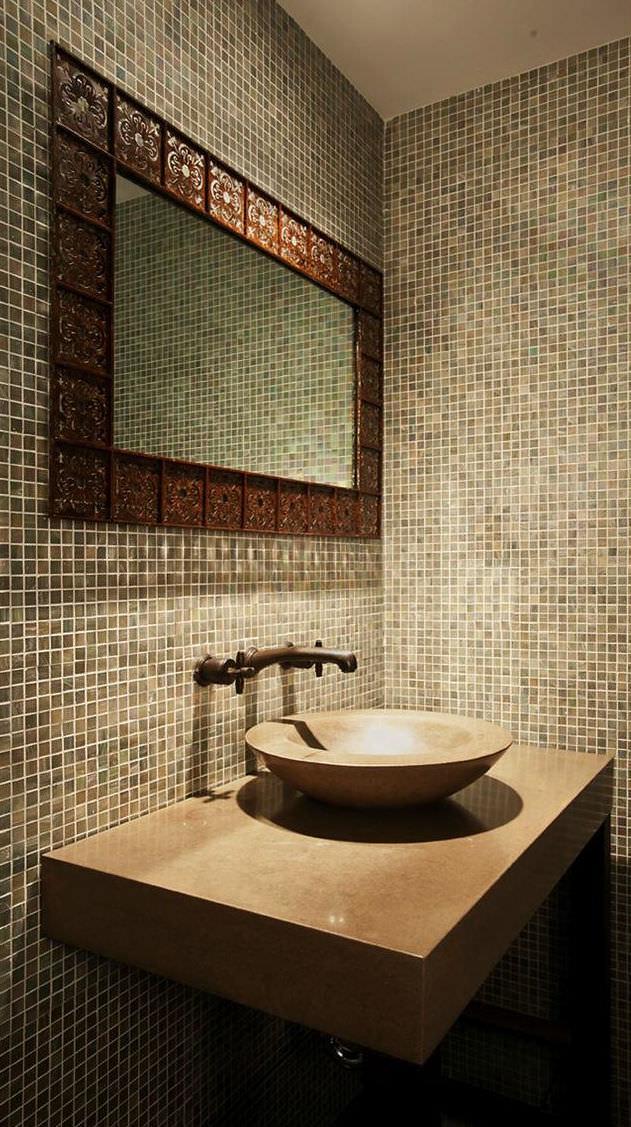 Indoor mosaic tile / bathroom / wall / glass - DUBAI - Design District
