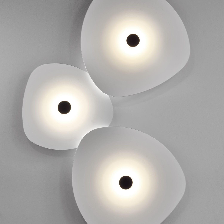 Contemporary Ceiling Light Aluminum Led White Flower 4584