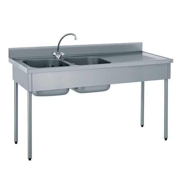 Stainless Steel Sink Commercial Kitchen Part - 45: Double Kitchen Sink / Stainless Steel / Square / Commercial 503 611 SERIES  Tournus ...