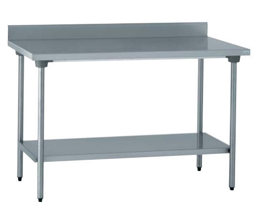 Stainless Steel Prep Table With Storage Compartment With Sink - Stainless steel prep table with shelves
