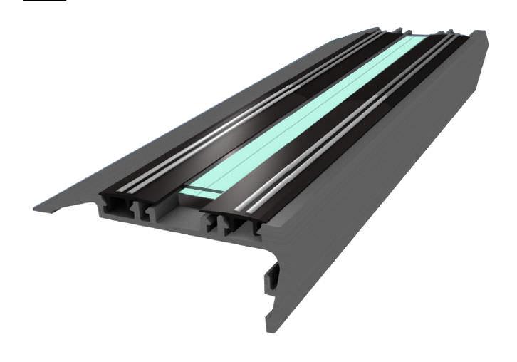 Steel Stair Nosing Illuminated Non Slip Ariana N1 Nanolight