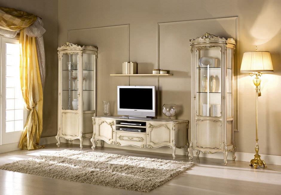 new baroque design tv cabinet / wooden - baroque - guerra vanni - Meubles Baroques Design