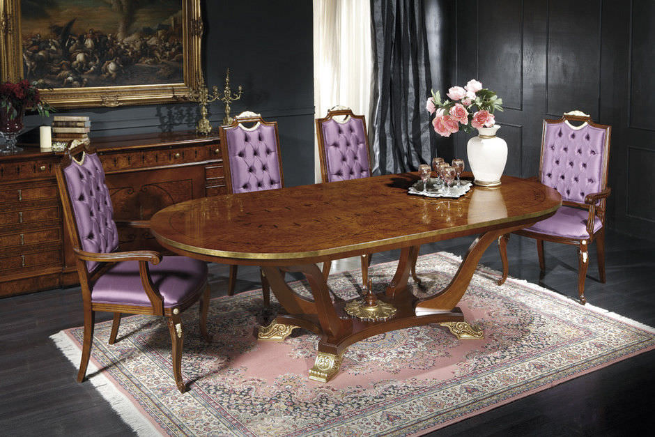 Classic Dining Table Wooden Oval