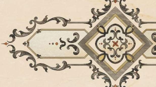 Marble Floor Pattern indoor tile / floor / marble / floral - central medallion - hazem