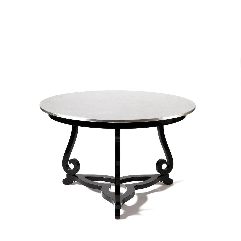 Original design coffee table mahogany round flourish boca original design coffee table mahogany round flourish boca do lobo geotapseo Gallery