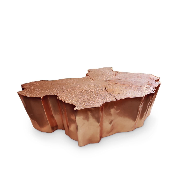 Original design coffee table copper brass aluminum EDEN