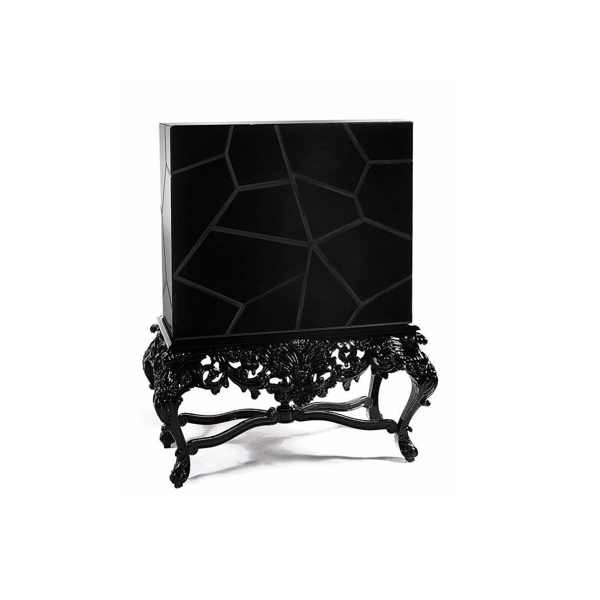 Sideboard with long legs / New Baroque design / lacquered wood ...