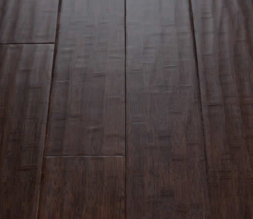 Engineered Parquet Floor Glued Bamboo Aged Prefinished Dark Stained