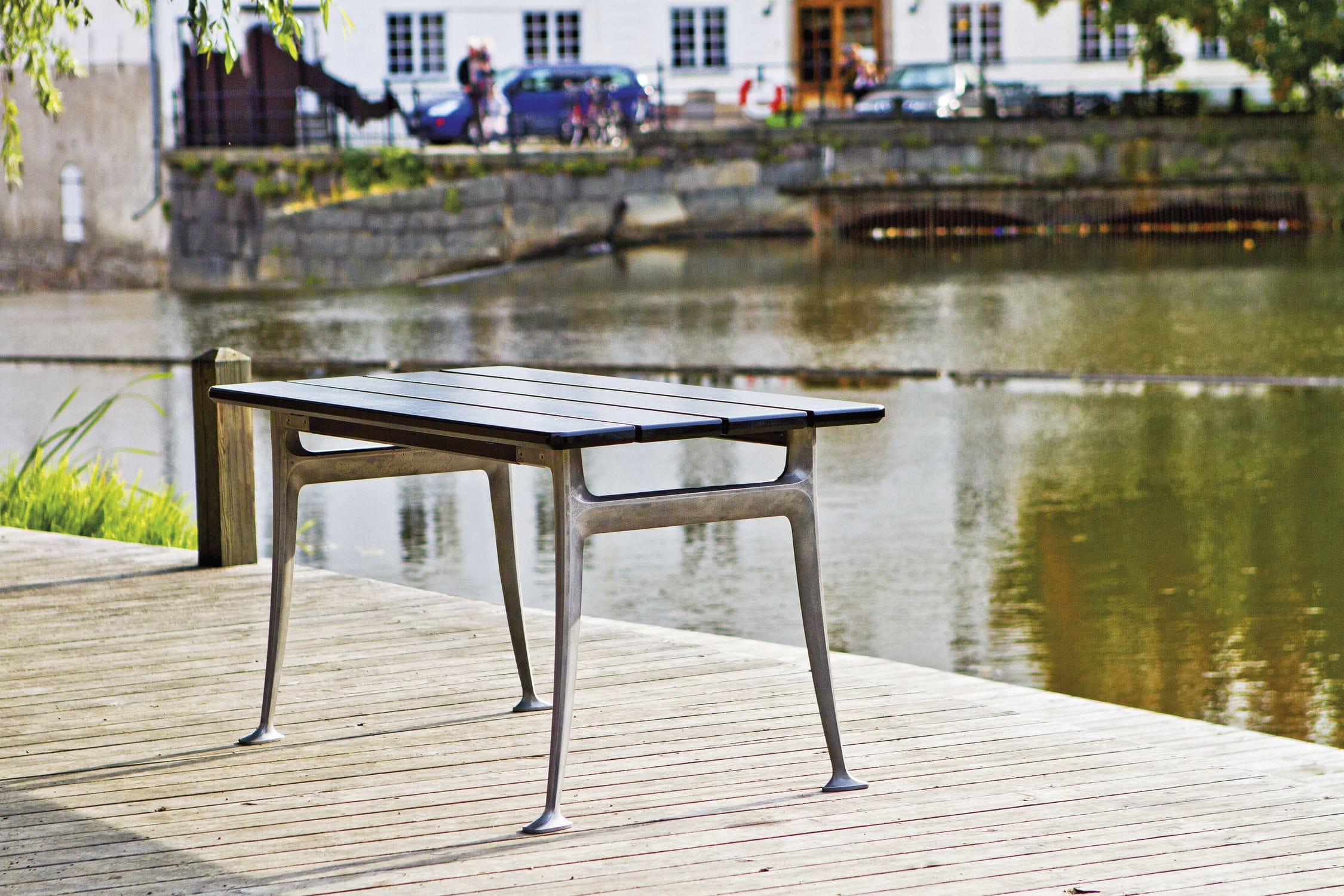 Scandinavian Design Table Wooden Rectangular Outdoor