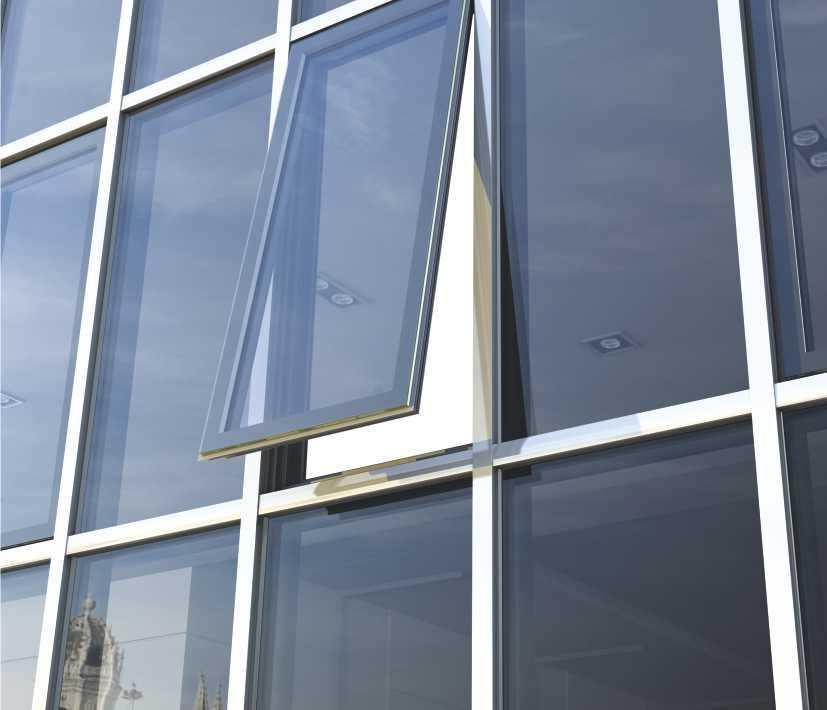 Aluminum and glass curtain wall - SMARTIA M50 - ALUMIL S.A.