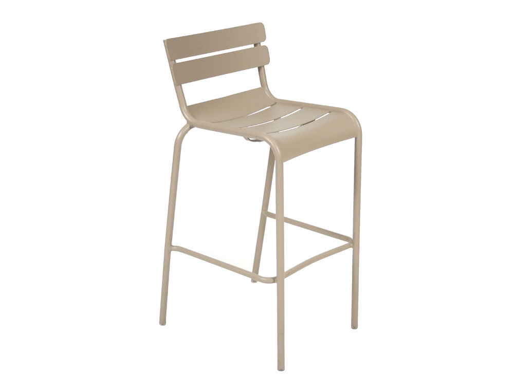 contemporary bar chair / aluminum / stackable / contract ... - Chaise De Bar Metal