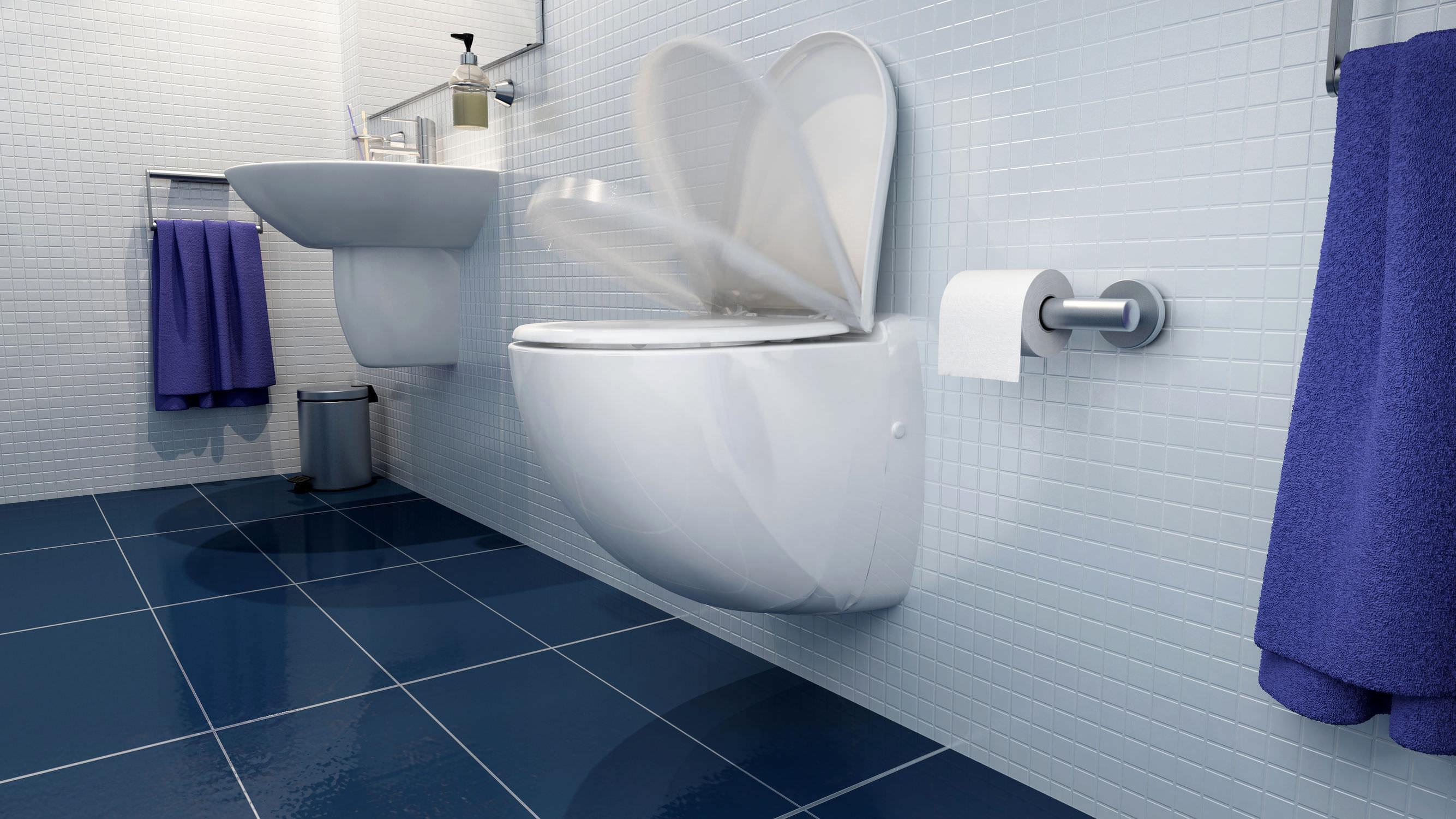 Wall-hung toilet / ceramic / with macerator - SANICOMPACT COMFORT ...