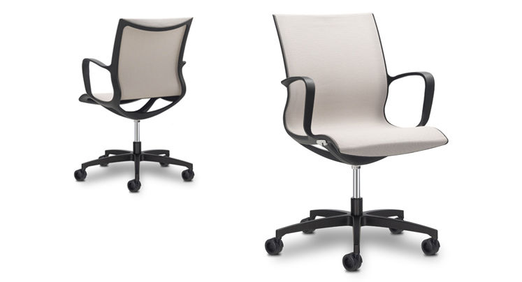 Contemporary Office Chair / On Casters / Upholstered / With Armrests SOUL  AIR SitLand ...