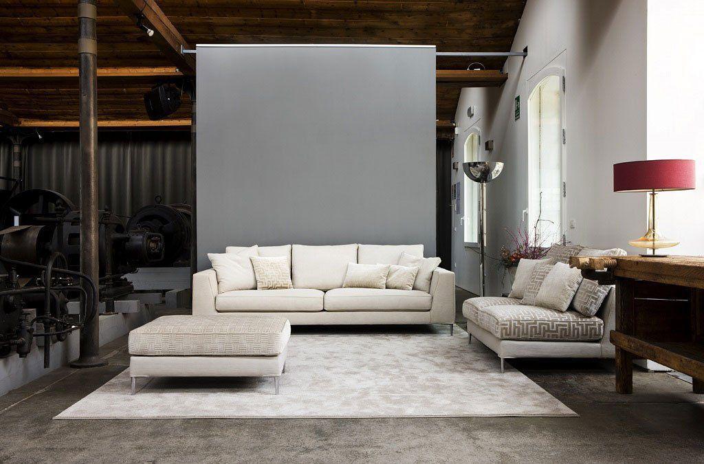 Corner sofa / contemporary / leather / fabric - PRESTIGE - Mazzoli ...