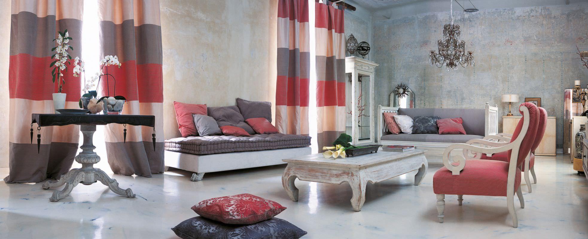 Curtain fabric / patterned / silk - CA\' REZZONICO - MASTRO RAPHAËL