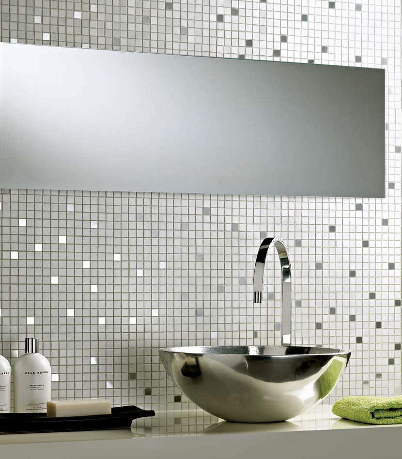 Indoor mosaic tile / bathroom / wall / ceramic - ALLUMINIO - Arezia