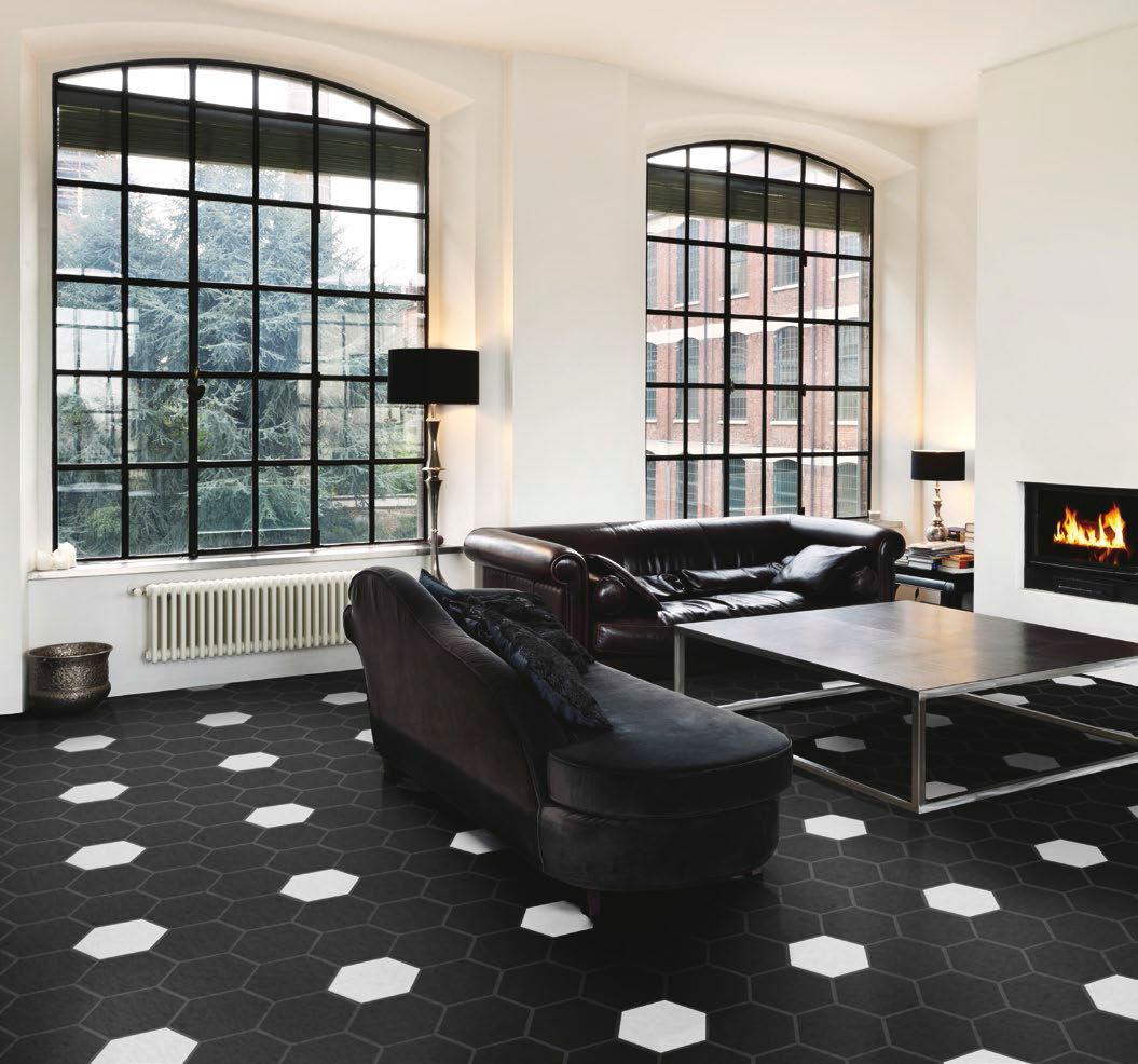 Indoor Tile Floor Porcelain Stoneware Plain VINTAGE NERO - Carrelage e tiles