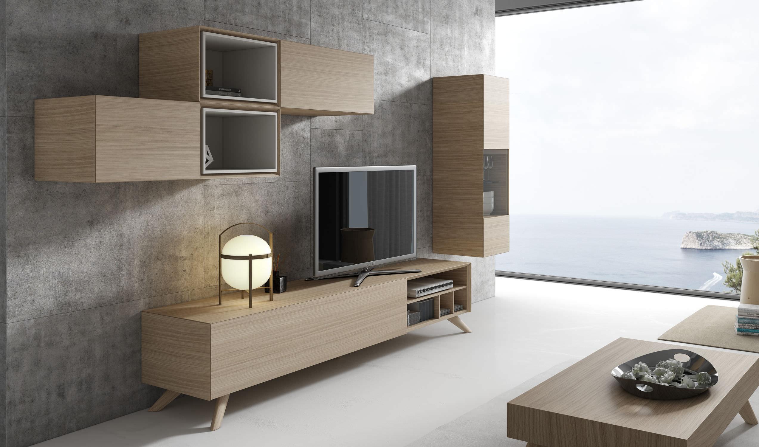 Contemporary Tv Wall Unit Wooden Ginza 309 A Brito