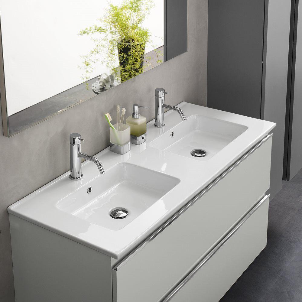 Double Washbasin Cabinet Wall Hung Mdf Laminate Urban Inda