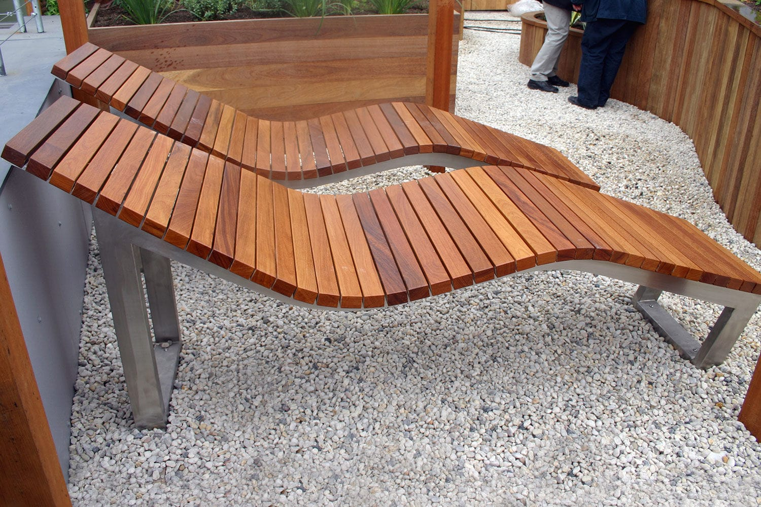 Delightful ... Contemporary Sun Lounger / Wooden / Stainless Steel / For Public Spaces  SKOP Factory Street Furniture ...