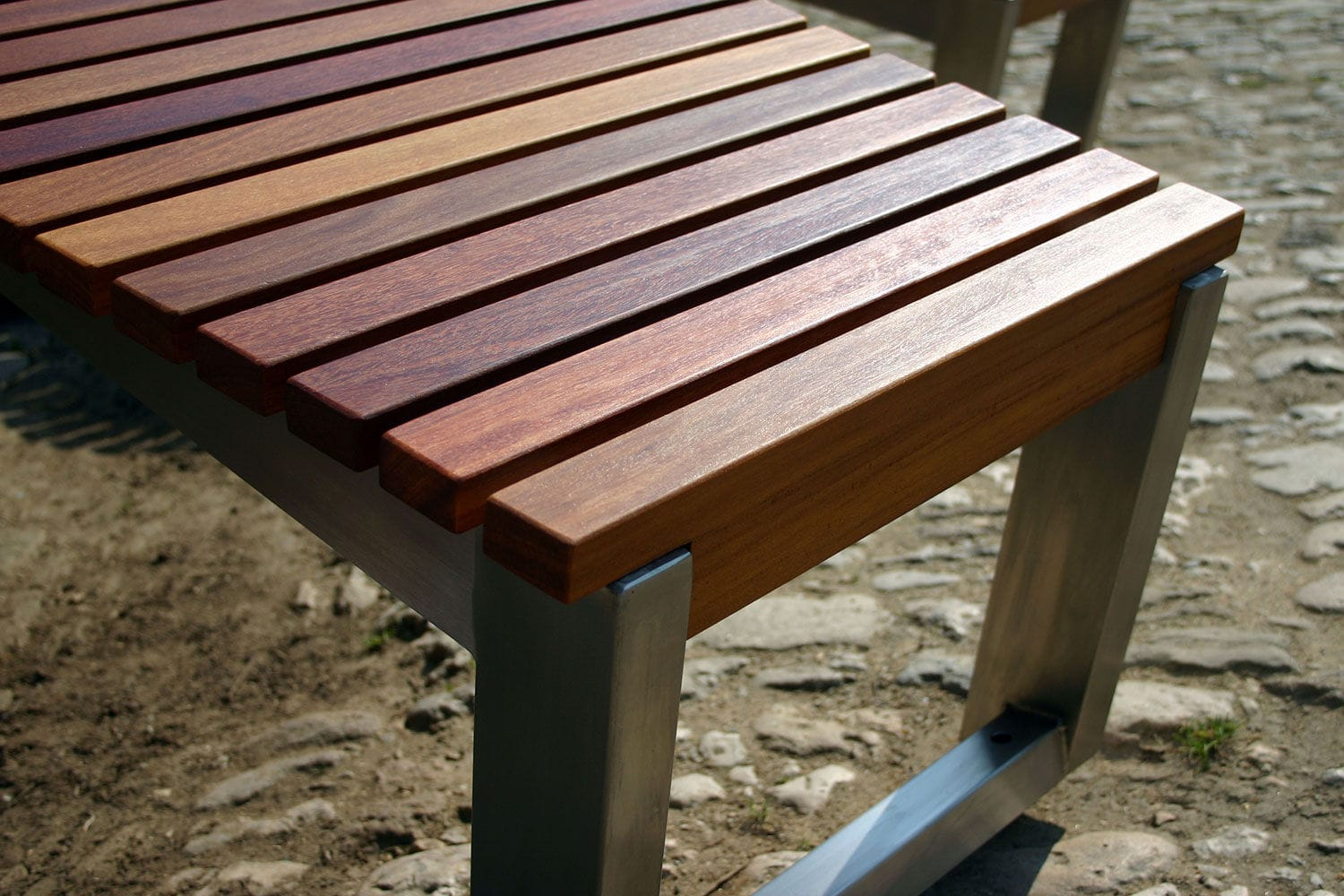 Contemporary Sun Lounger Wooden Stainless Steel For Public Spaces