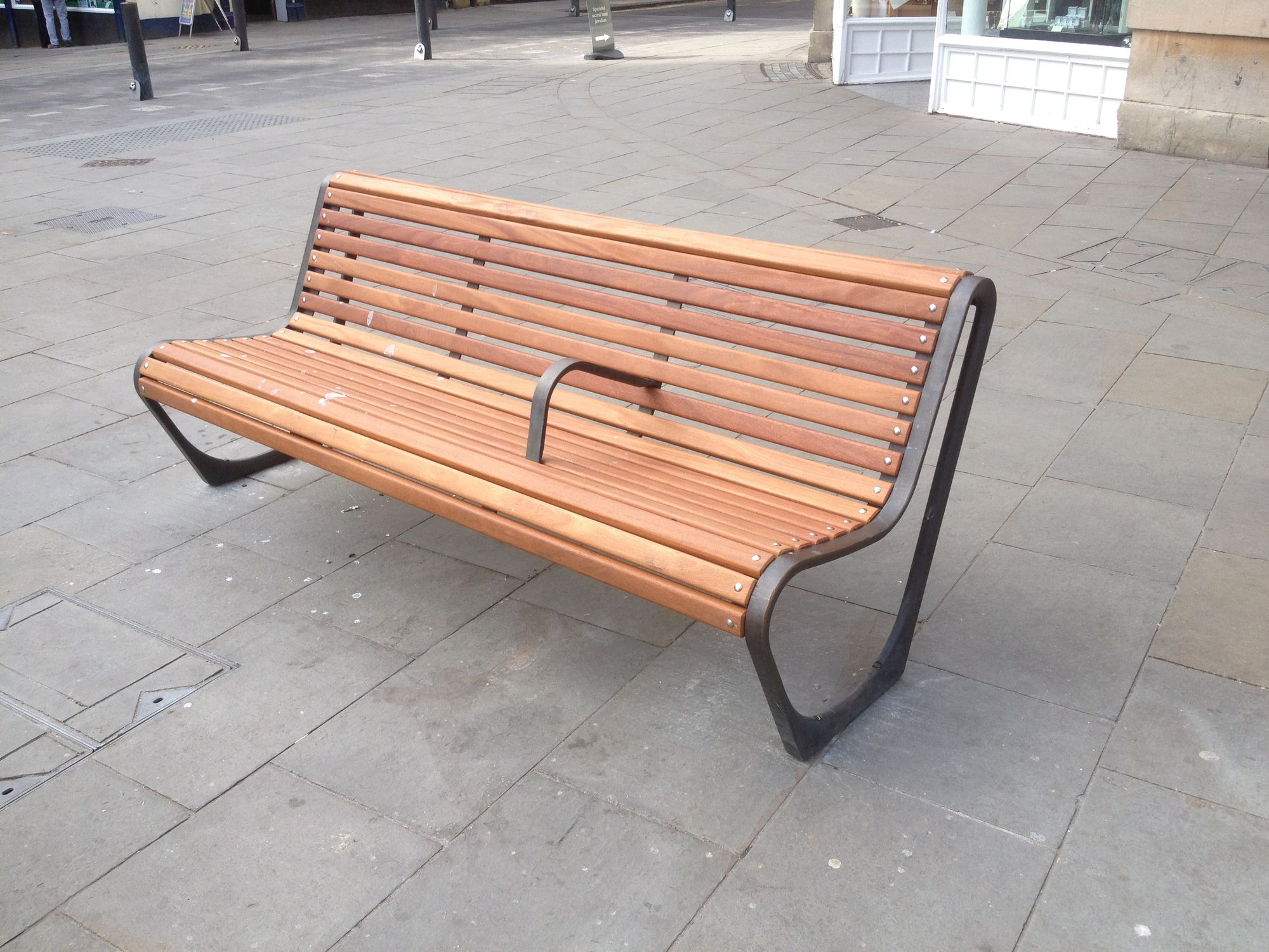 ... Public bench / contemporary / wooden / cast iron CITY OF BATH Factory Street  Furniture ...