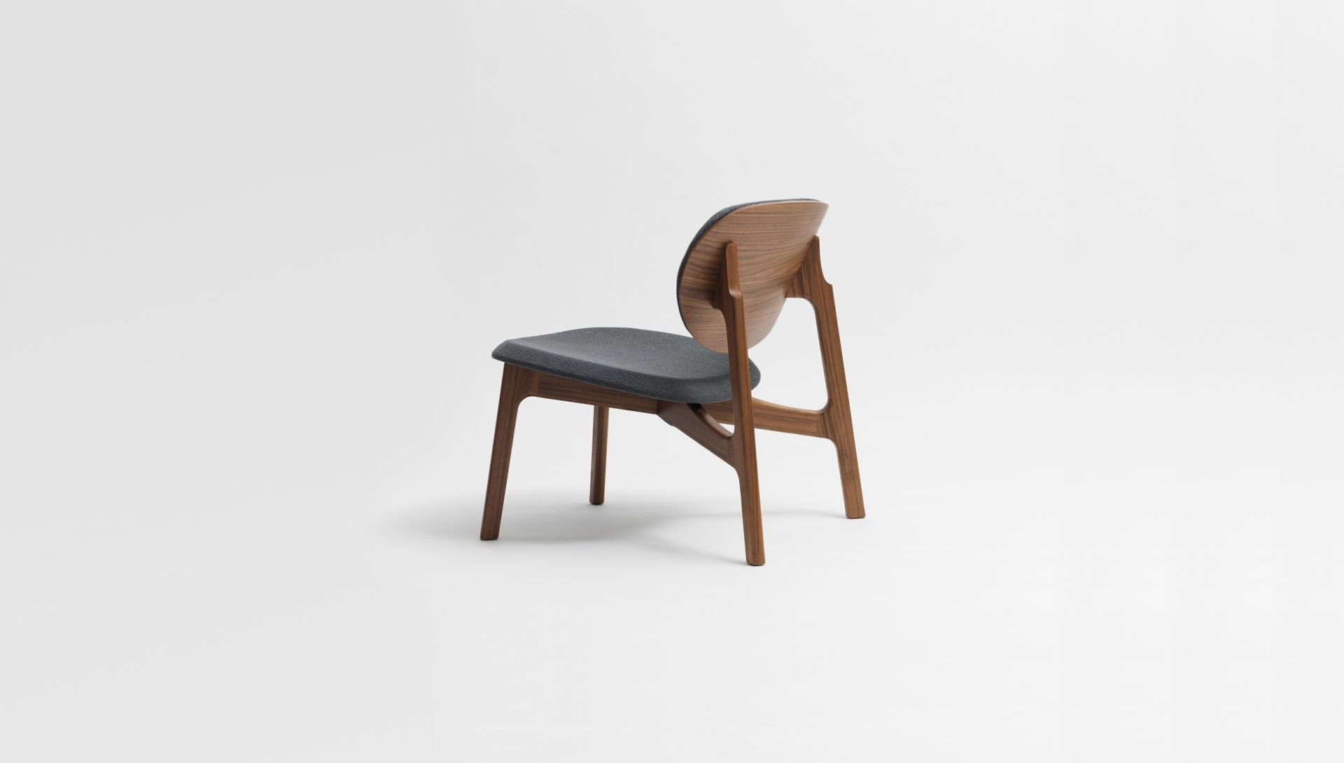 Contemporary Fireside Chair / Fabric / Solid Wood / Walnut ZENSO By  Formstelle ZEITRAUM ...