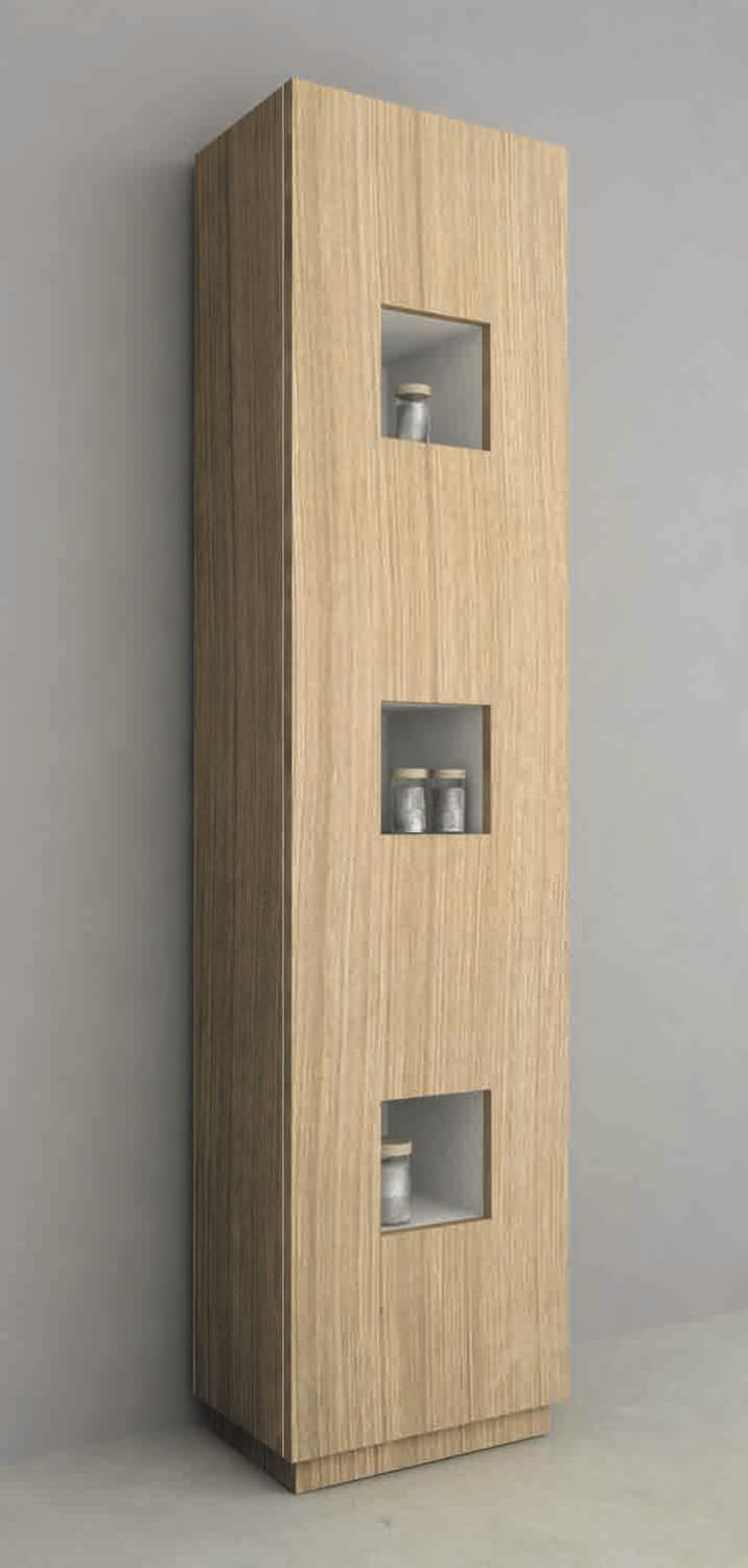 Bathroom column cabinet / contemporary - MOD. CUBE COLONNA PER ...