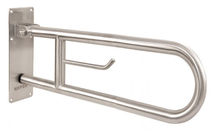 Stainless steel grab bar / U-shaped / wall-mounted / commercial ...