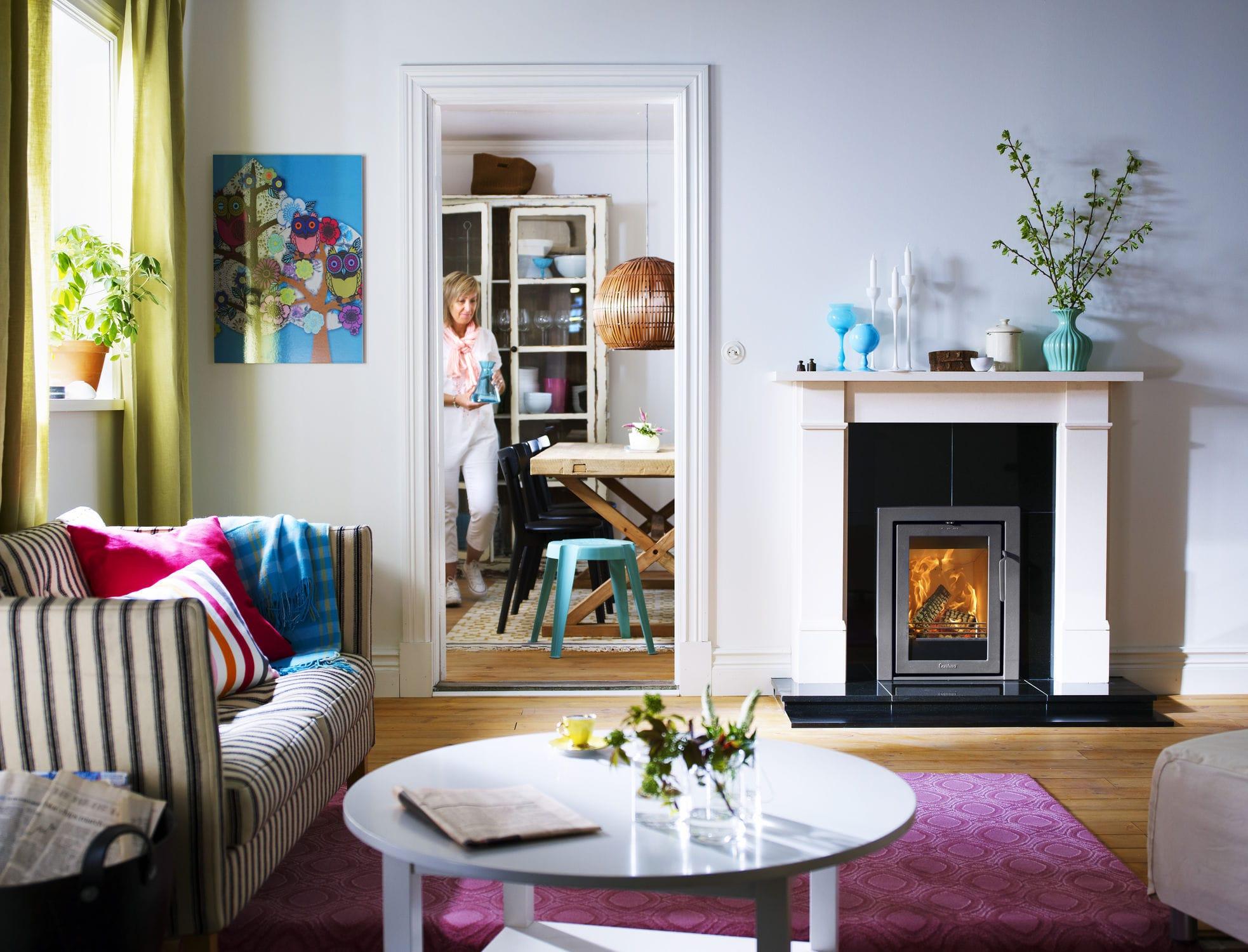 wood burning fireplace insert contura i4 modern contura