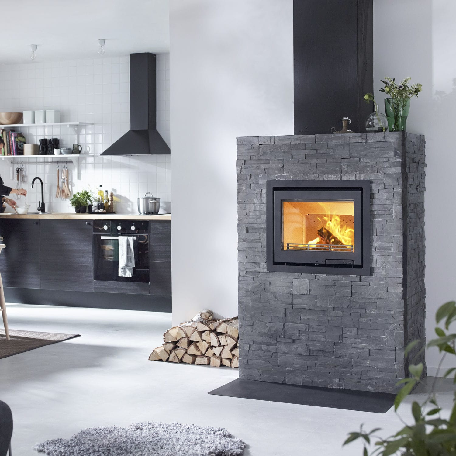 wood burning fireplace insert contura i6 contura