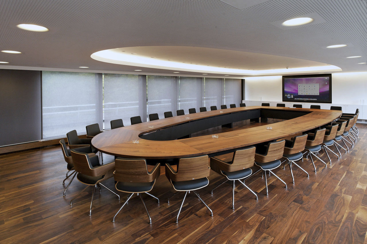 Contemporary Conference Table Solid Wood Rectangular Oval - Oval shaped conference table