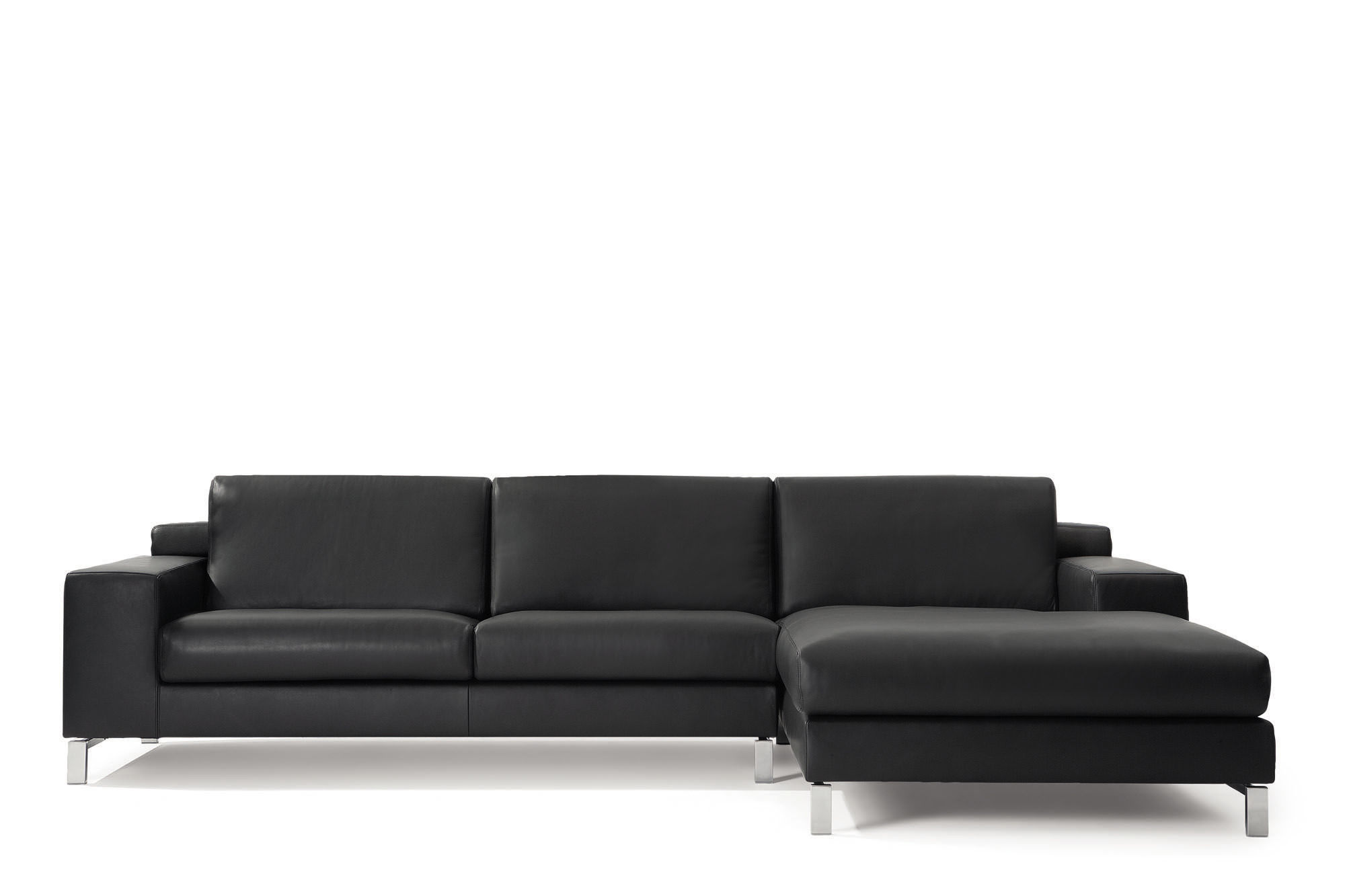Modular sofa contemporary leather 2 seater SYDNEY by Henk