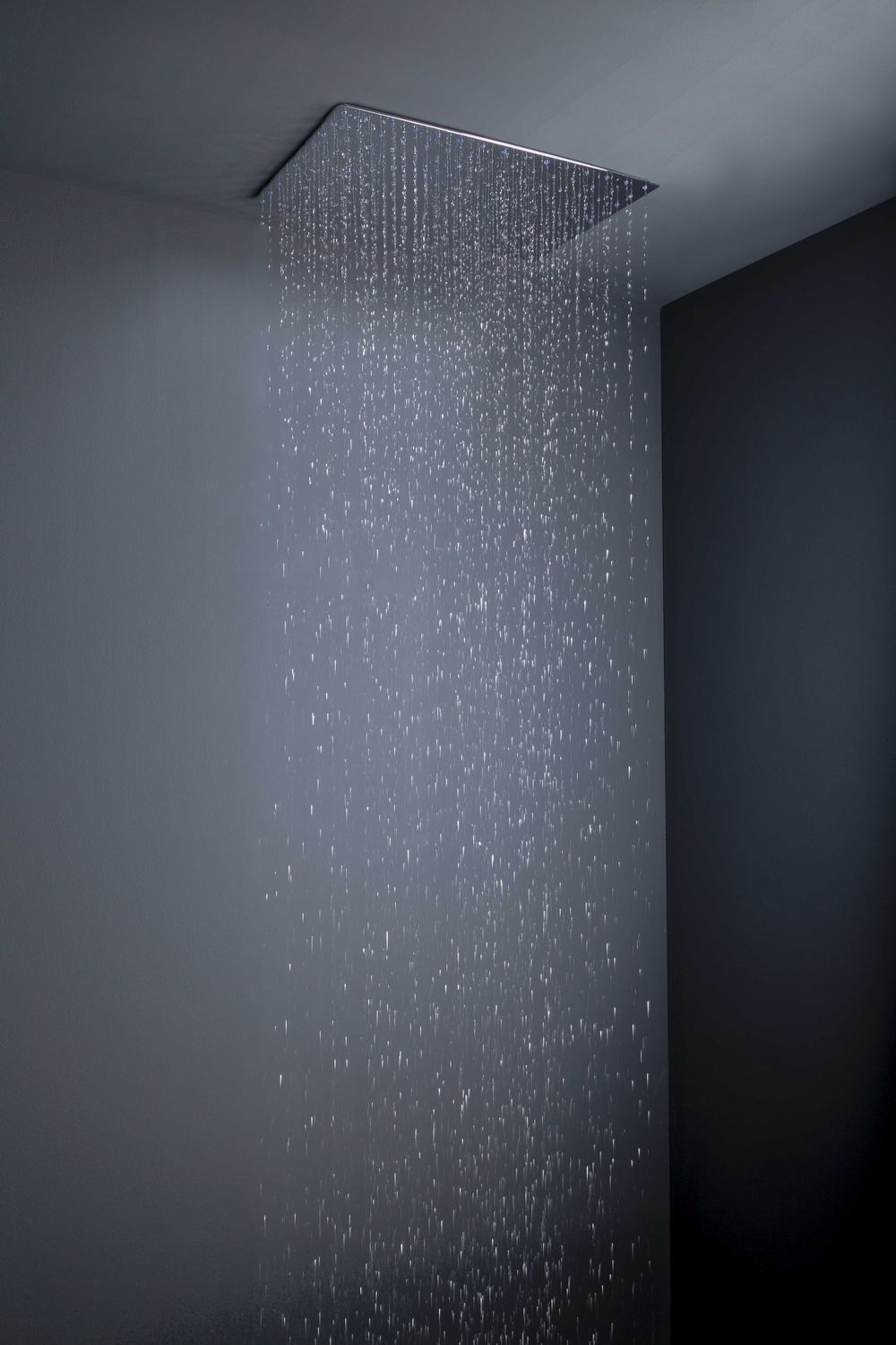 Wall mounted shower head ceiling mounted rectangular rain