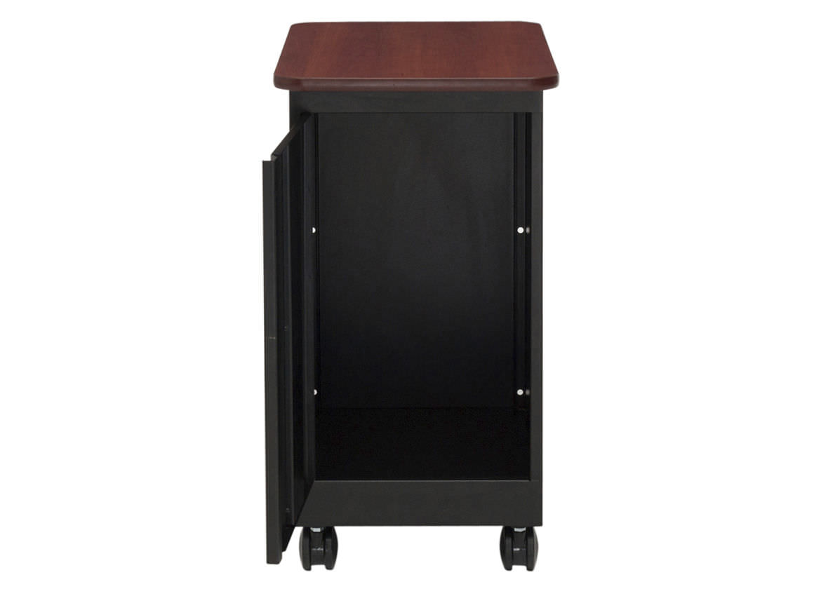 two desk black and cherry tables polished iron finished stand mahogany with large as well under handsome ideas cabinet shelves printer