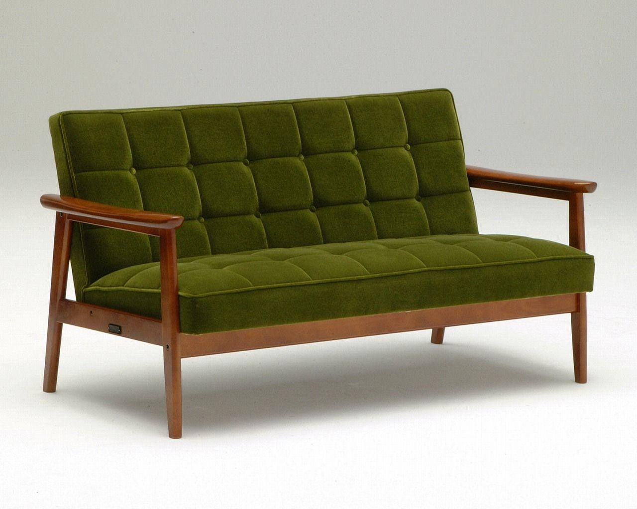 Sofabett holz  Traditional sofa / wooden / 2-seater / black - K - Karimoku