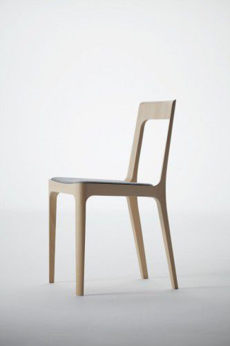 ... Contemporary Chair / Upholstered / Fabric / Wooden ...