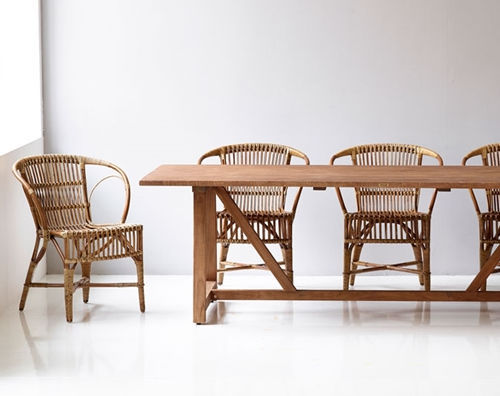 Exceptionnel Contemporary Chair / With Armrests / Rattan / Wicker   WENGLER