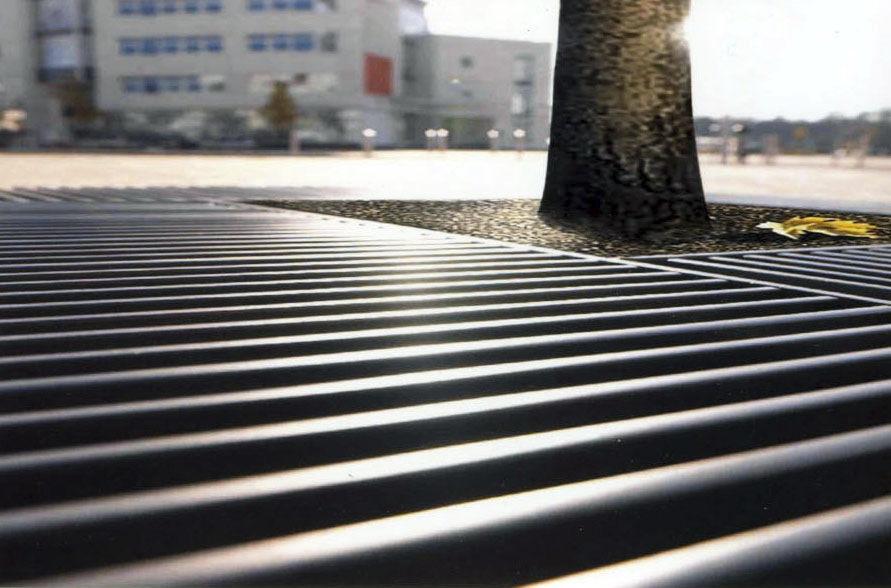Galvanized steel tree grate / square - BASIC - Concept Urbain